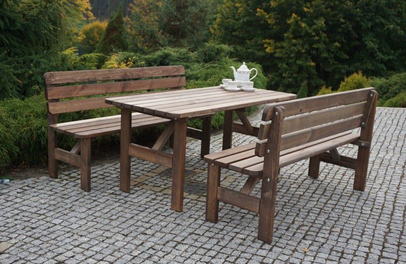 WOOD 30152 Zahradní dřevěný stůl MIRIAM