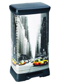 Odpadkový koš DECOBIN pedálový 50l - NEW YORK  CURVER