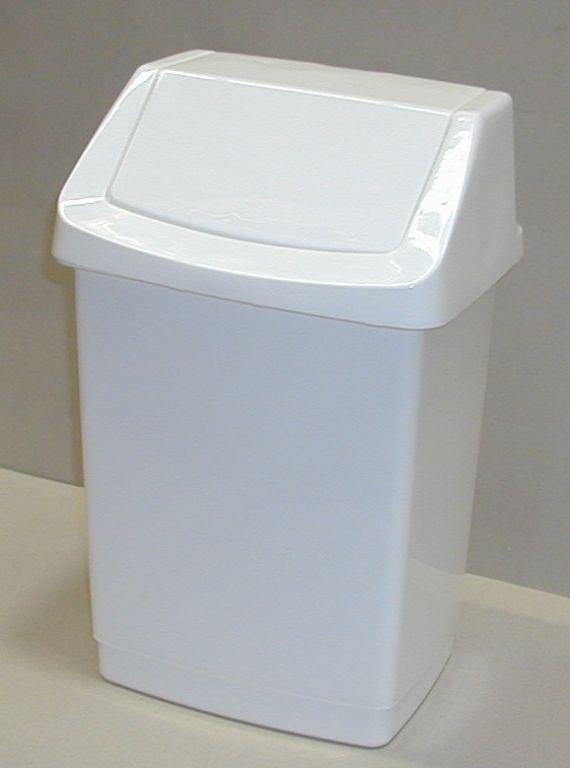 Koš odpadkový 15l CLICK - bílý CURVER