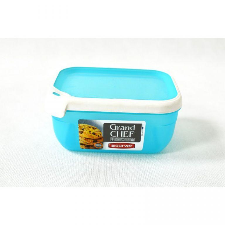 CURVER 32192 Plastová dóza GRAND CHEF dóza - 1,8 l obdélník - tyrkysová modrá