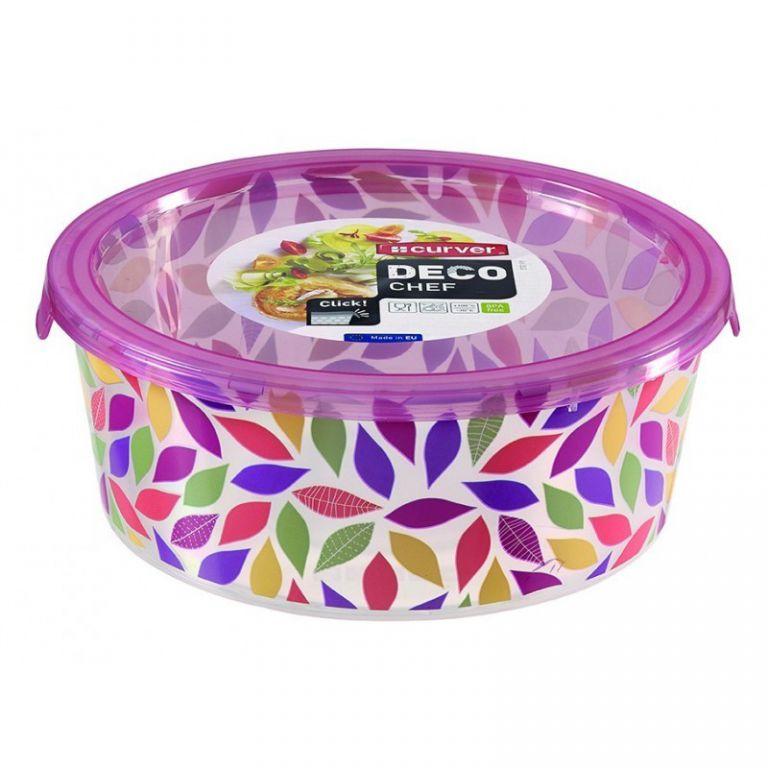 Plastová dóza DECO CHEF 1,2l - květy CURVER