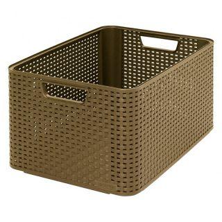 Plastový úložný STYLE BOX -L- kávový CURVER