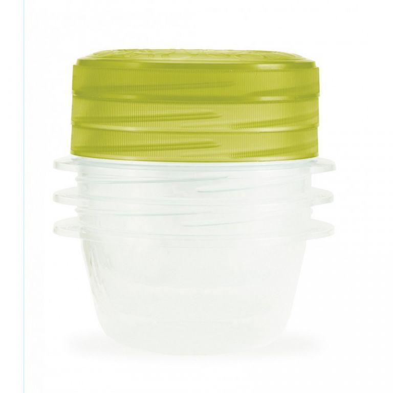 CURVER 32865 Set 3 plastových dóz TAKE AWAY TWIST 0,5l - zelený