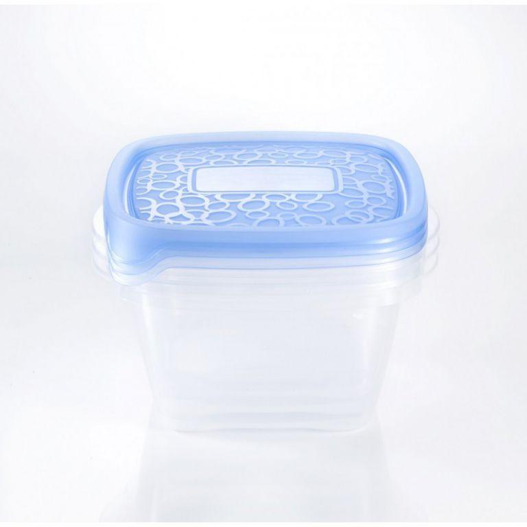 CURVER 32874 Set 3x plastová dóza TAKE AWAY 1,1L - modré