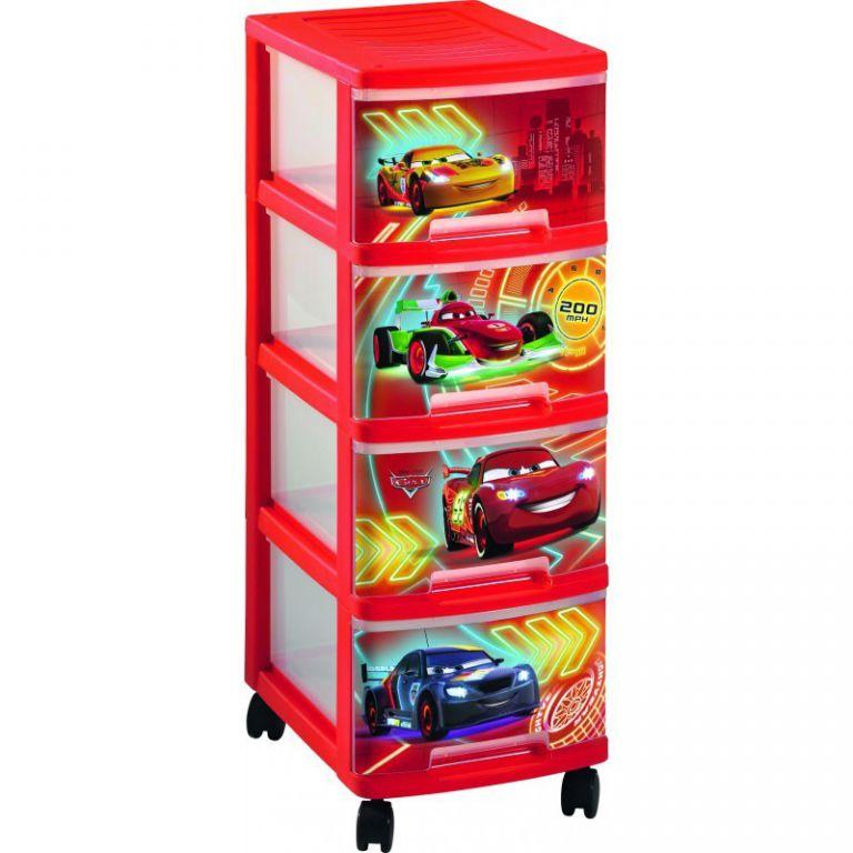 Dětský regál 4 zásuvky - CAR CURVER