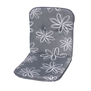 Polstrování na nízké křeslo SCALA - šedá s květy 30200-700