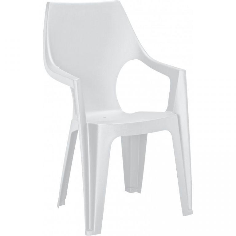 Plastové křeslo DANTE - bílé