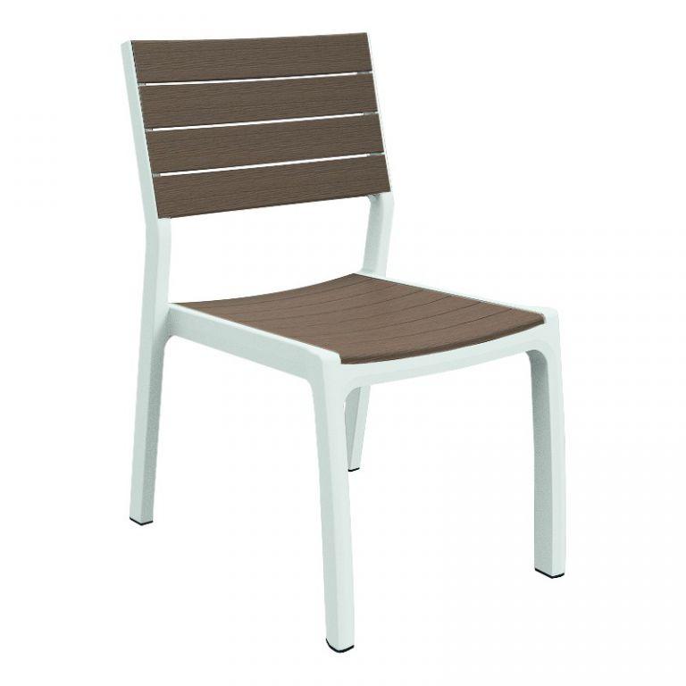 Keter 35569 Designová zahradní židle HARMONY - bílé + cappuchino