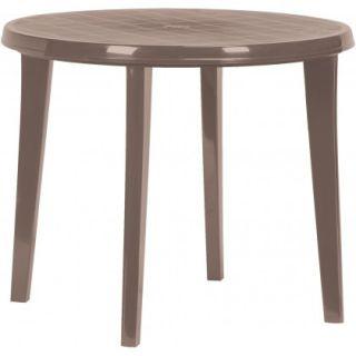 Plastový kulatý stůl LISA - cappuchino