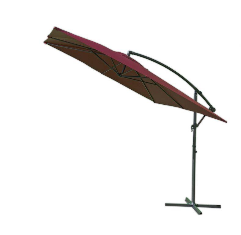 Tradgard 3880 Čtvercový slunečník kovový - bordó 270 x 270 cm