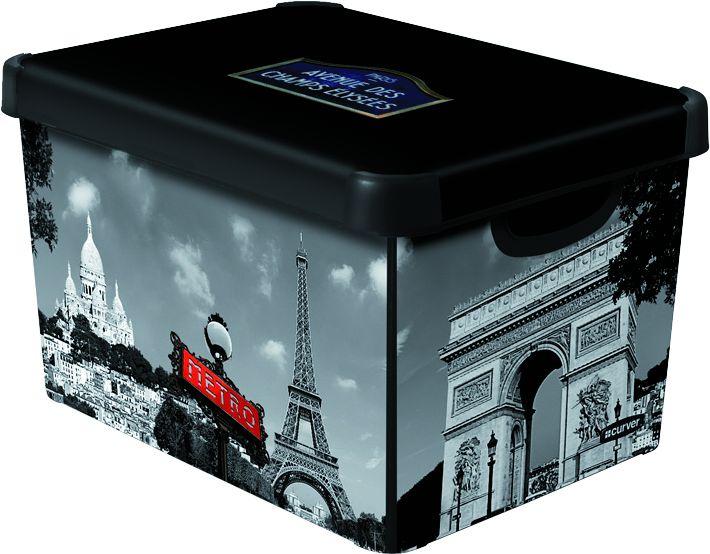 CURVER Paříž Úložný box s víkem- L