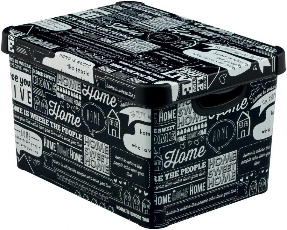 CURVER 41126 BOX plastový s víkem - L - TYPOGRAPHY