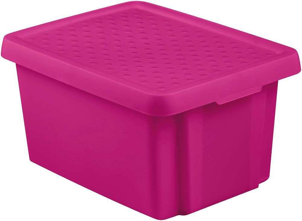 Úložný box s víkem 16L - fialový CURVER