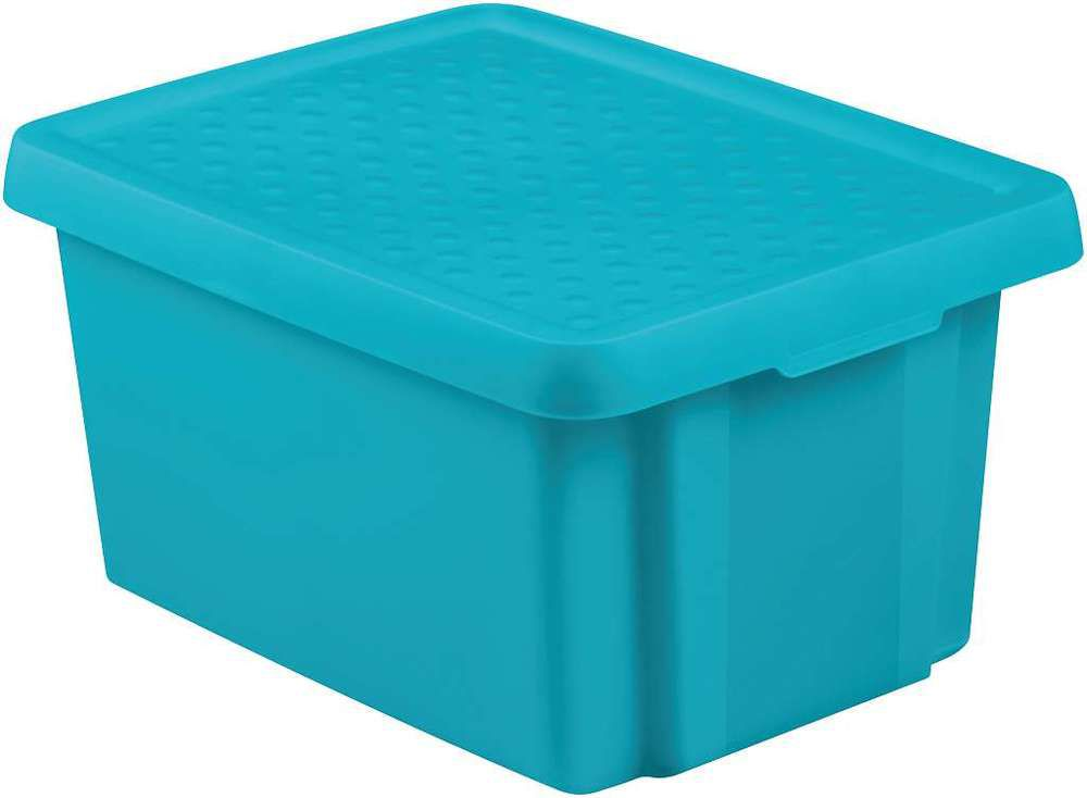 CURVER Úložný box s víkem 16L - modrý