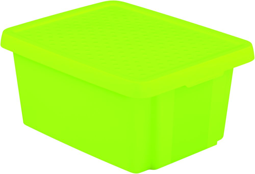 Úložný box s víkem 20L - zelený CURVER