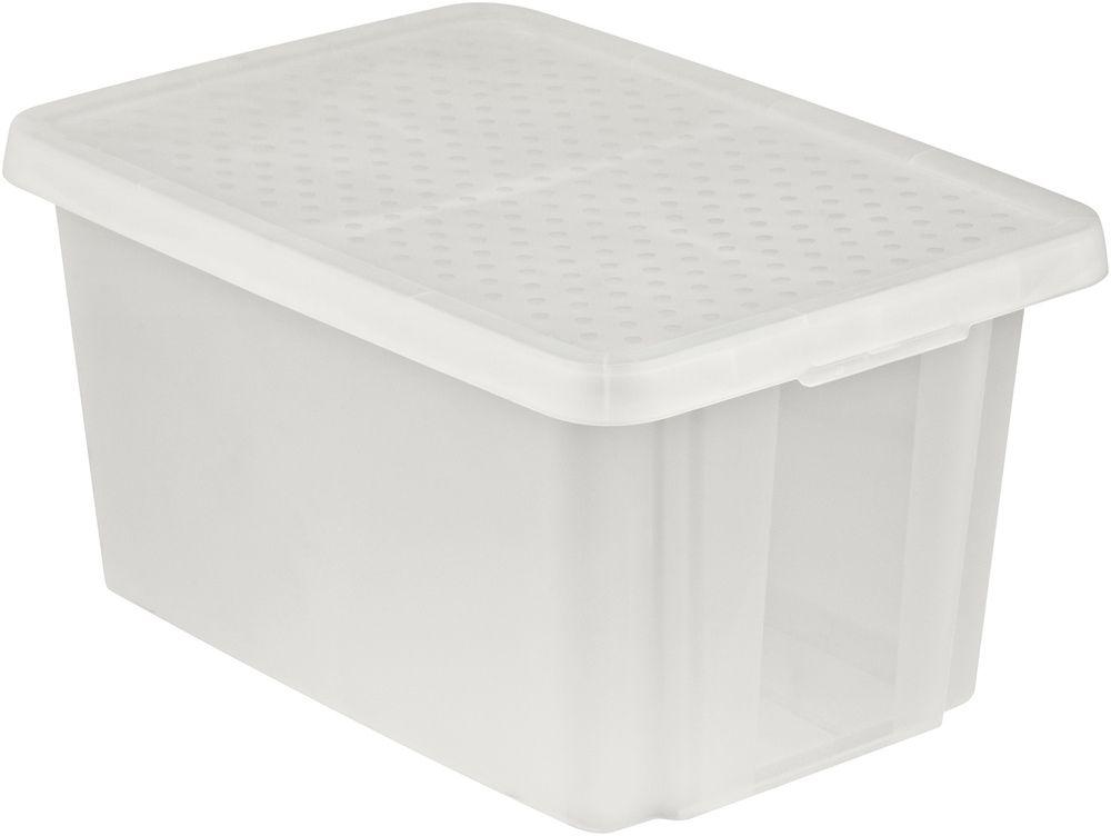 CURVER Úložný box s víkem 45L - transparentní