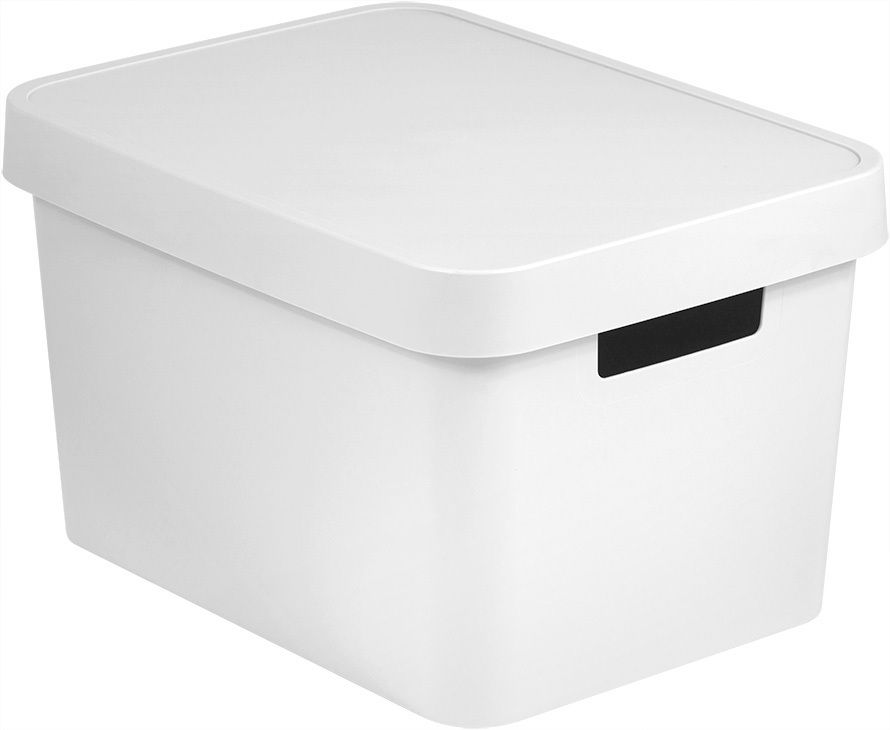 CURVER 41165 Úložný box plastový s víkem 17L - bílý