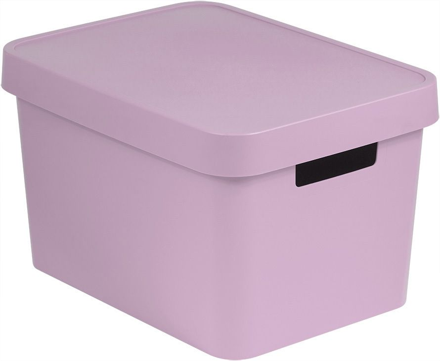 Úložný box plastový s víkem 17L - růžový CURVER