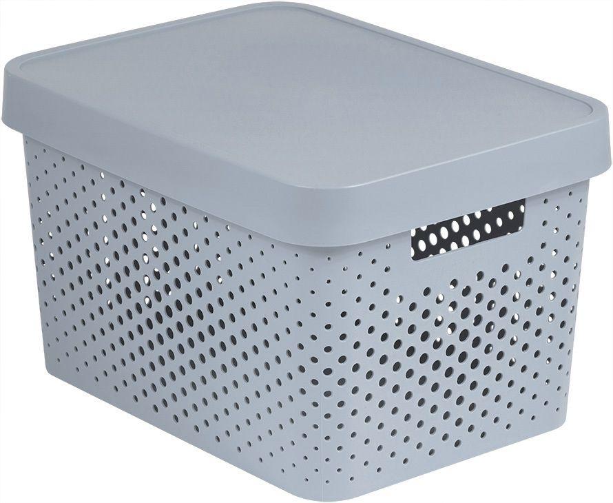 CURVER 41169 Úložný box s víkem plastový 17L - bílý