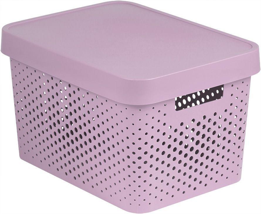 CURVER 41170 Úložný box s víkem plastový 17L - růžový