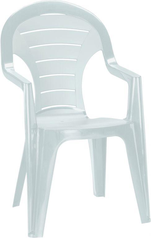 Zahradní plastové křeslo BONAIRE vysoké - bílé