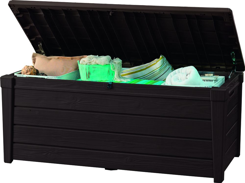 Keter BRIGHTWOOD Zahradní úložný box 455L - hnědý