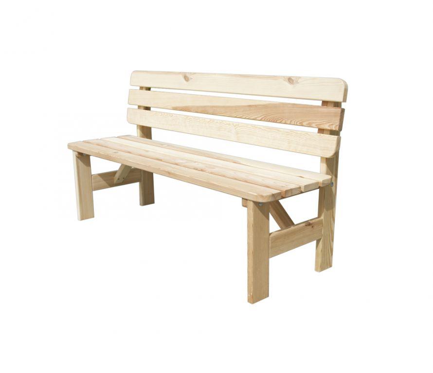 WOOD 41247 Zahradní dřevěná lavice VIKING - 150 cm