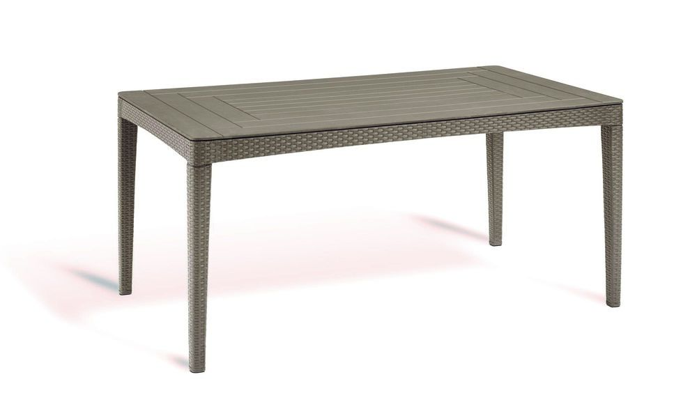 Allibert GIRONA 54571 Polyratanový zahradní stůl - cappucino