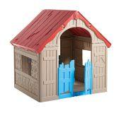 Dětský hrací domek FOLDABLE PLAYHOUSE - béžový