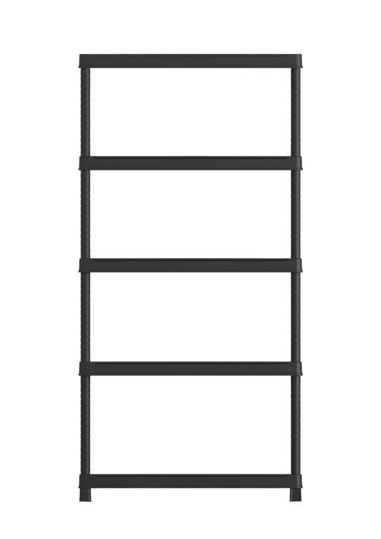 KIS PLUS 54619 Plastový otevřený regál 80/5 - 187 x 80 x 40 cm