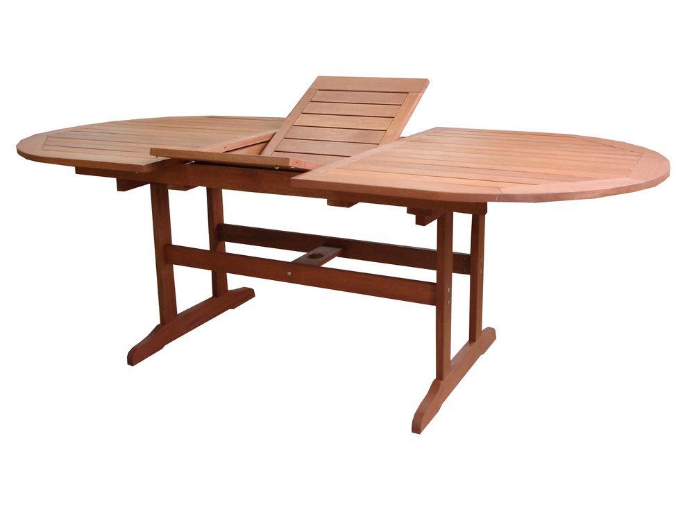Zahradní stůl AWARD rozkládací dřevěný - 175 - 220 cm