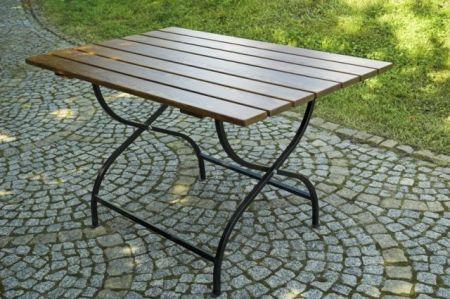 WOOD 6510 Dřevěný skládací zahradní stůl WEEKEND FSC