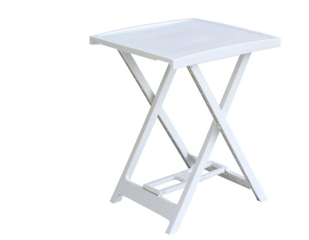 Tradgard ARNO Plastový stolek - bílý, 65 x 50 x 47 cm